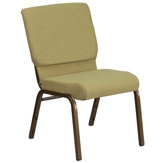 HERCULES Series 18.5-inch WideFabric Stacking Church Chair with 4.25-inch Thick Seat - Vein Frame