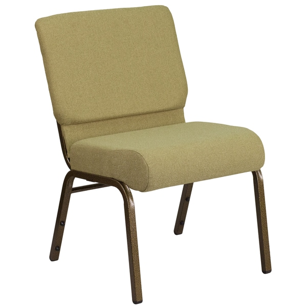 Great HERCULES Series 21 Inch Extra Wide Fabric Stacking Church Chair With 4 Inch  Thick