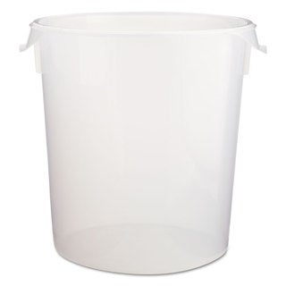 Rubbermaid Commercial Round Storage Containers Clear 22qt (Set of 6)
