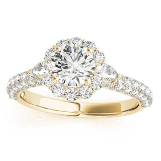 Transcendent Brilliance 14K Gold 2 1/10ct TDW Diamond Halo Engagement Ring (VS1-VS2, F-G)
