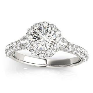 Transcendent Brilliance 14K Gold 1 1/2ct TDW Diamond Halo Engagement Ring (VS1-VS2, F-G)