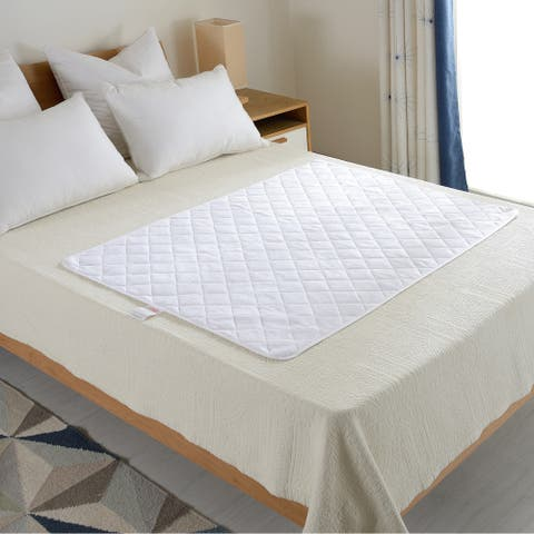 Cheer Collection Terry Rayon from Bamboo Large Waterproof Protector Pad for Adults and Children - White