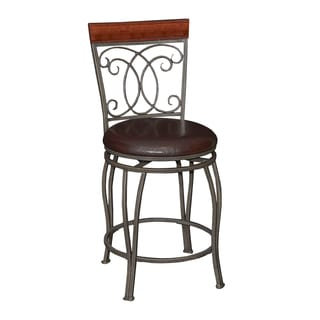 Powell Bailey Brown Metal Counter Stool