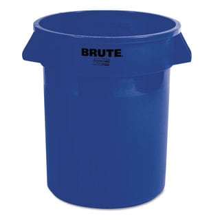 Rubbermaid Commercial Round Brute Container Plastic 20 gal Blue
