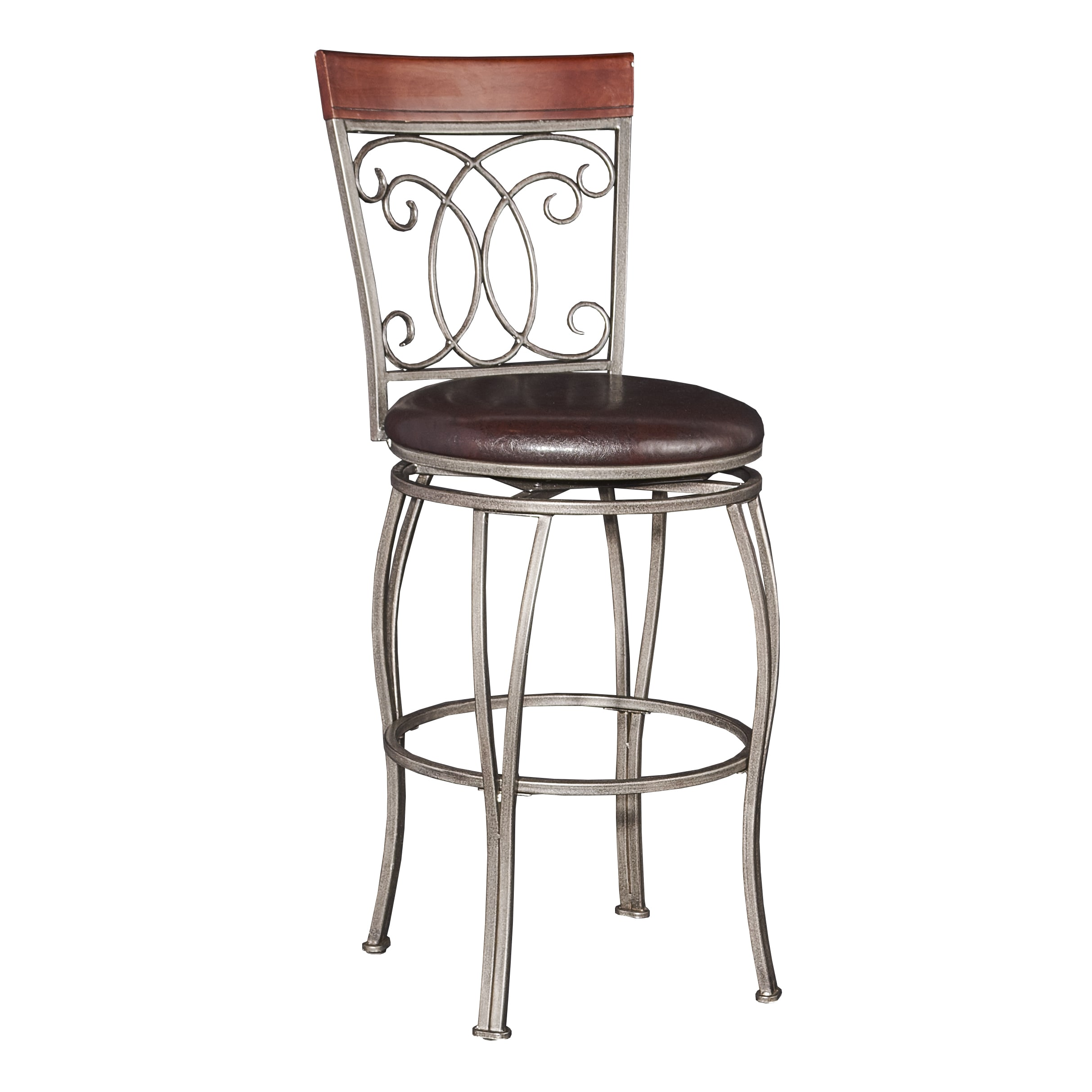 Powell Furniture Bailey Big and Tall Barstool (Silver Met...