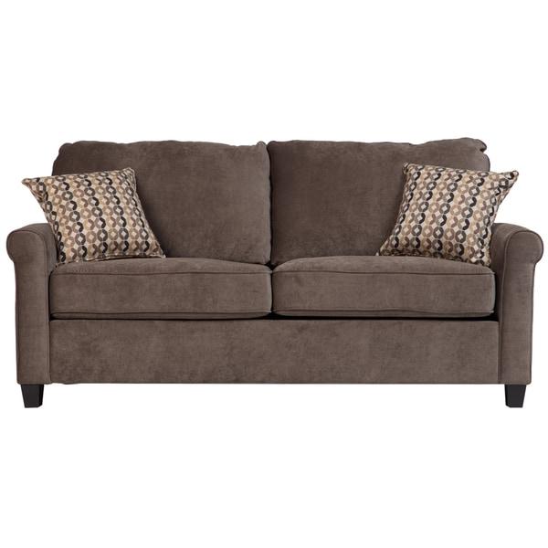 Shop Porter Serena Warm Grey Full Sleeper Sofa With Woven