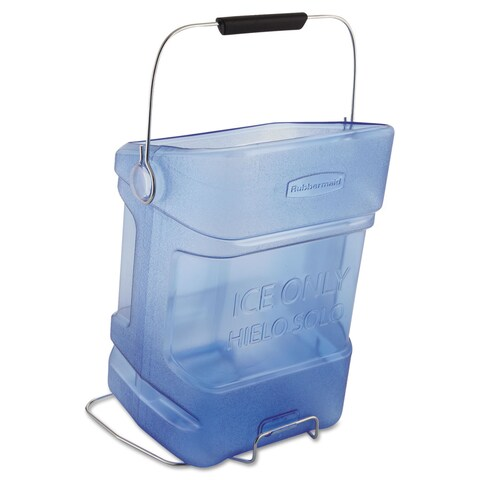 Rubbermaid Commercial Ice Tote 5.5gal Blue With Hook Assembly