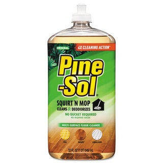 Pine-Sol Squirt 'n Mop Multi-Surface Floor Cleaner 32-ounce Bottle Original Scent 6/Carton