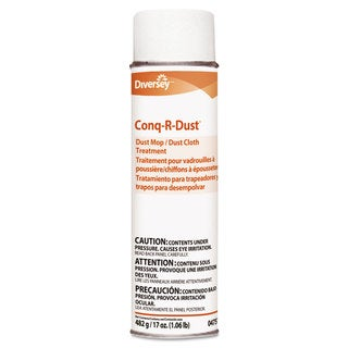 Diversey Conq-r-Dust Dust Mop/Dust Cloth Treatment Amine Scent 17-ounce Aerosol 12/Carton