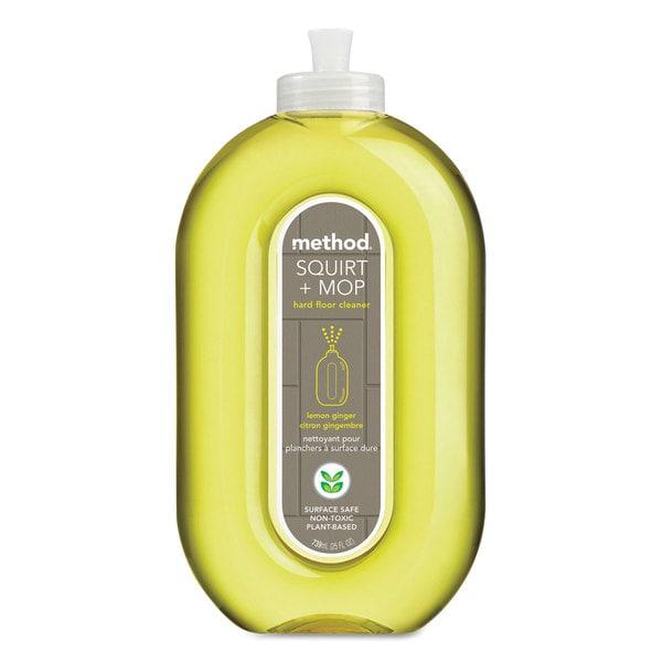 Method Squirt and Mop Hard Floor Cleaner 25-ounce Spray Bottle Lemon Ginger 6/Carton