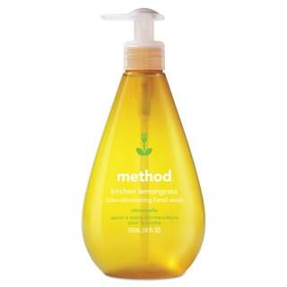 Method Kitchen Hand Wash, Lemongrass, 18 oz Pump Bottle, 6/Carton