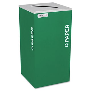 Ex-Cell Kaleidoscope Collection Recycling Receptacle 24gal Emerald Green