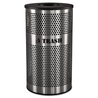 Ex-Cell Stainless Steel Trash Receptacle 33gal Stainless Steel