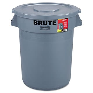 Rubbermaid Commercial Brute Container All-Inclusive Round Plastic 32gal Grey