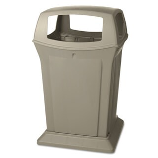 Rubbermaid Commercial Ranger Fire-Safe Container Square Structural Foam 45 gal Beige