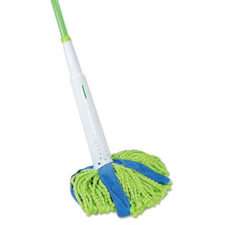 LYSOL Brand Cone Mop Supreme 8-inch Wide 31 3/4-inch Steel Handle Green/Blue Each