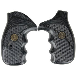 Pachmayr Renegade Wood Laminate Revolver Grips Smith & Wesson K&L Frame, Charcoal Silvertone Checkered