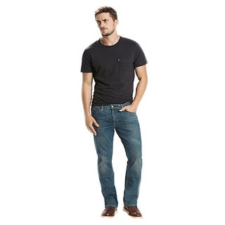 Levi's 527 Men's Blue Cotton Boot-cut Jeans