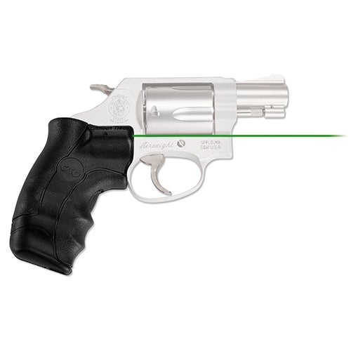 Crimson Trace Smith and Wesson J-Frame Round Butt Lasergrip, Green, Clam Package