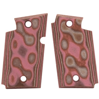 Hogue Sig P938 Ambidextrous Extreme Series Grip Smooth G-Mascus G10, Pink Lava