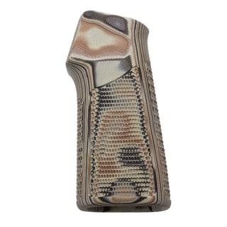 Hogue AR15/M16 15 Degree, Vertical No Finger Groove Grip Piranha, G10 G-Mascus, Dark Earth