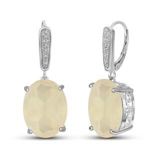 Jewelonfire Sterling Silver Moonstone Earring