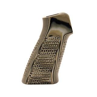 Hogue AR-15 No Finger Grooves, Grip Pirahna G10 G-Mascus Green