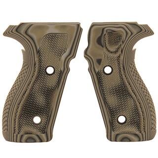 Hogue Sig P227 DA/SA Grips Checkered G10 G-Mascus Green