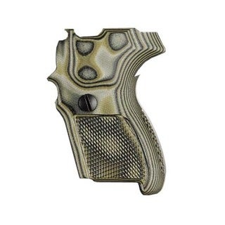 Hogue Sig P224 DA/SA Grips Checkered G10 G-Mascus Green