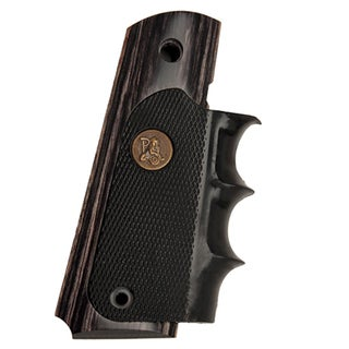 Pachmayr Colt 1911 Grip Charcoal Silvertone Laminate