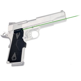 Crimson Trace 1911 Government/Commander Lasergrips-Green, Clam Pack