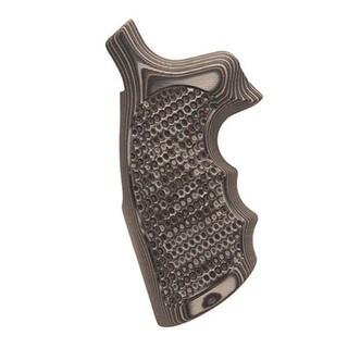Hogue S&W N Frame Round Butt Grips Convert, Finger Grooves, Piranha G-10 G-Mascus Black/Gray