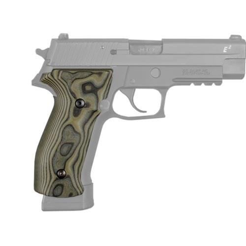Hogue Sig P226 Grips DA/SA Magrip, Smooth G-10 G-Mascus Green