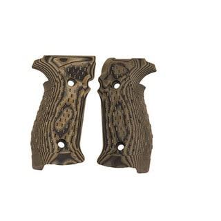 Hogue Sig P226 Grips DA/SA Magrip, Chain Link G-10 G-Mascus Green