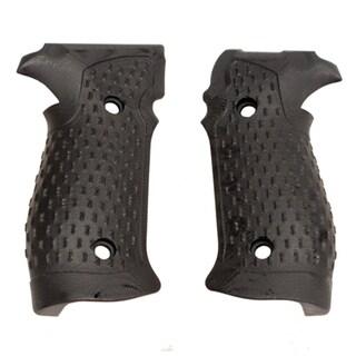 Hogue Sig P226 Grips DA/SA Magrip, Chain Link G-10 Solid Black