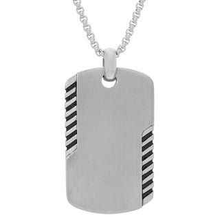 Stainless Steel Men's Tag Pendant Necklace
