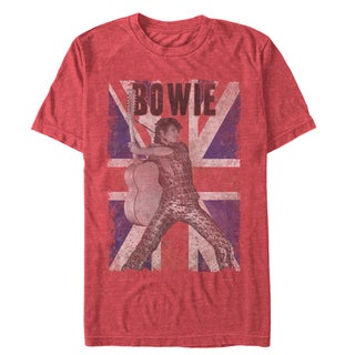 Men's David Bowie Union Jack Rock Out Performance Cotton T-shirt