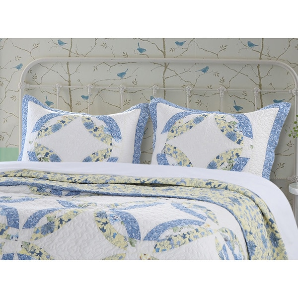 Greenland Home Fashions Forever Quilted Patchwork Standard Pillow Shams (Set of 2)