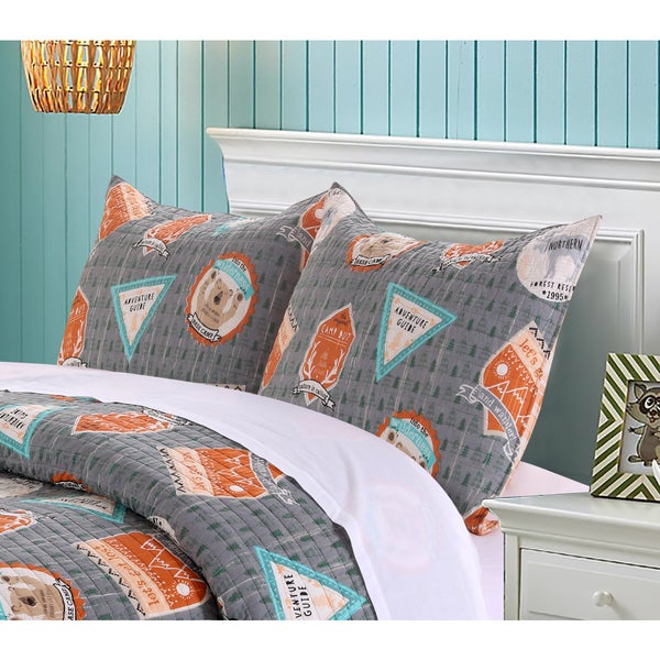 Greenland Home Fashions Camp Out Standard Pillow Shams (Set of Two)