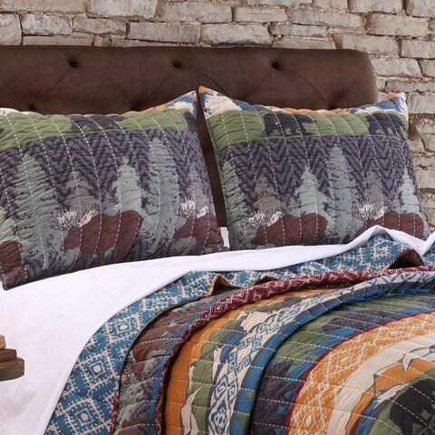 Greenland Home Fashions Black Bear Lodge Standard Pillow Shams (Set of 2)