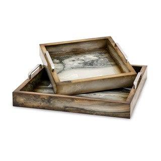 Trisha Yearwood New Frontier Marly Decorative Trays - Set of 2