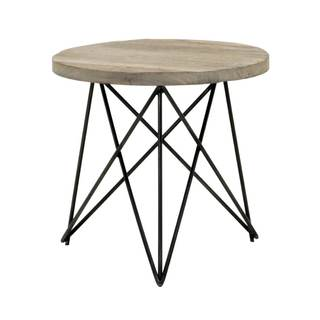 Gray Manor Ernest Smoke Grey Elm Accent Table