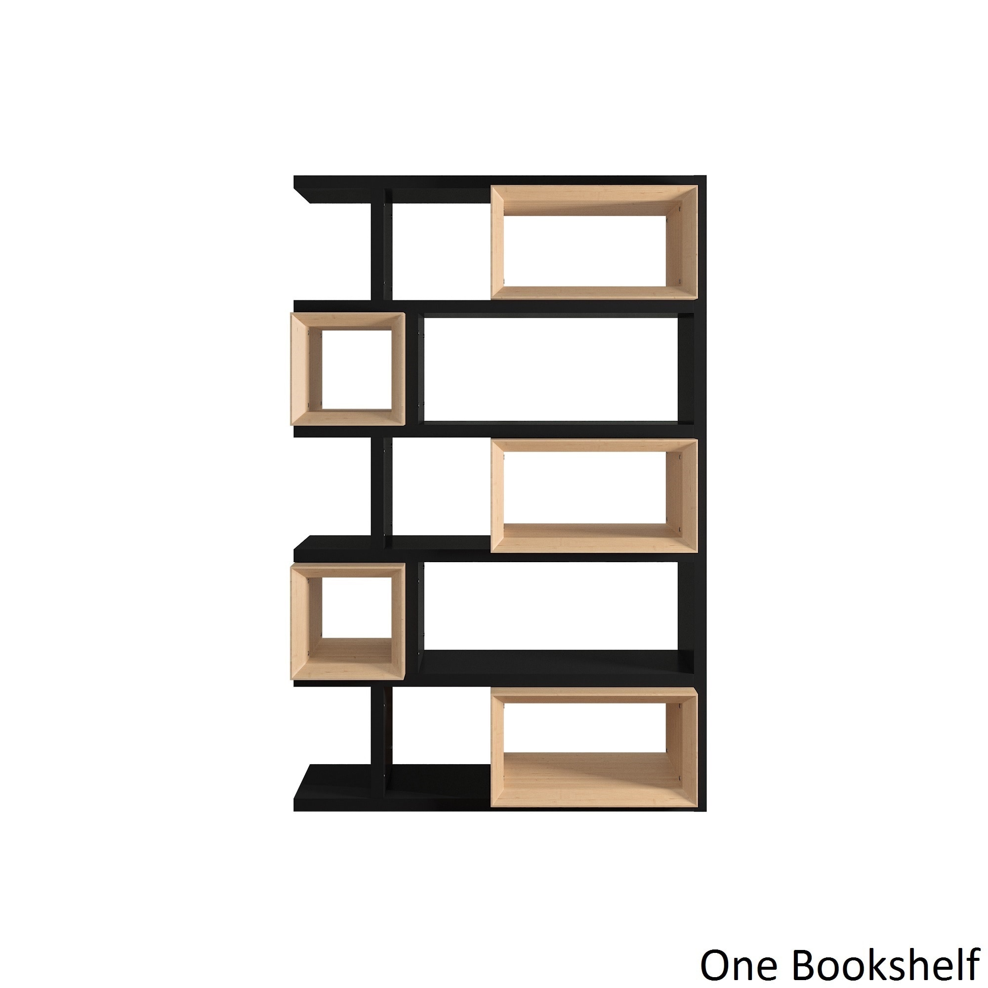 Erika Black and Natural Finish Open Bookshelf iNSPIRE Q M..