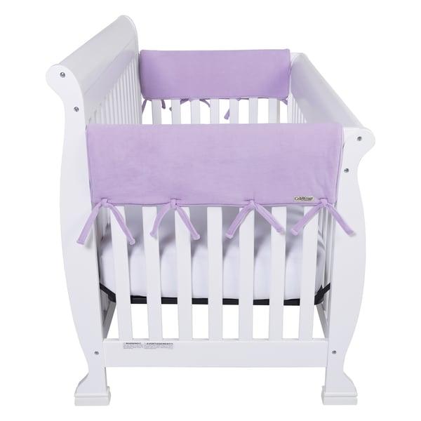 Trend Lab CribWrap Lavender Fleece Short Wide Rail Covers (Set of 2)