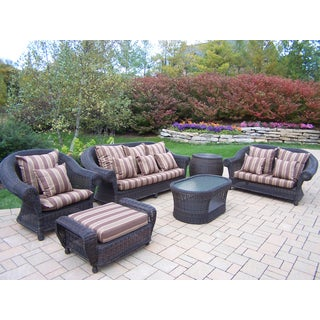 Saratoga Outdoor Wicker Cushioned Seating Set