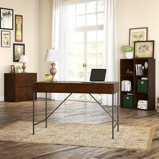 kathy ireland Office Ironworks 48W Writing Desk Office Suite in Cherry