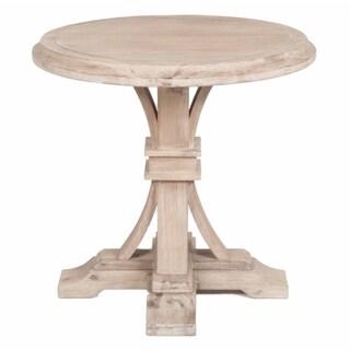 Gray Manor Devon Stone Washington Wood Round Accent Table