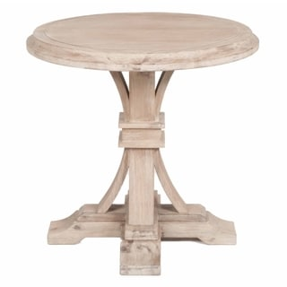 Gray Manor Devon Stone Washington Wood Round Accent Table
