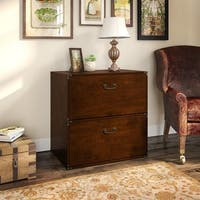 kathy ireland® Office Ironworks Lateral File Cabinet in Coastal Cherry