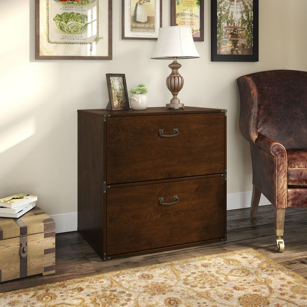 Kathy Ireland Office Ironworks Coastal Cherry Lateral File Cabinet
